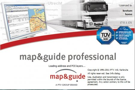 Map & Guide Truck Navigator 7 PC (2011) навигационная система для грузового транспорта.