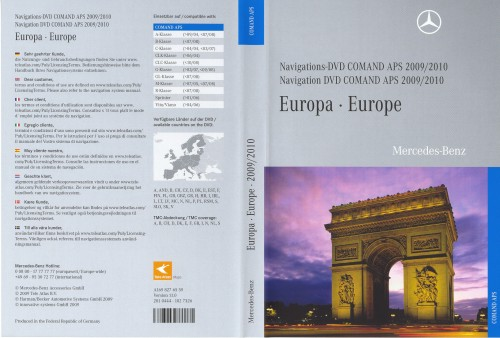 Диск навигации Mercedes COMAND APS NTG2 Europe 2009-2010