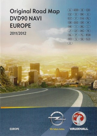 Карты Европы для OPEL DVD100 Navi / Navigation Map for DVD100 Navi, Europe 2011/2012