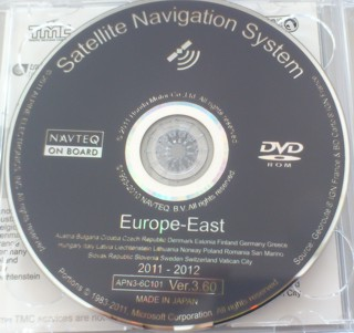 Honda 2012 Satellite Navigation DVD V3.60 (Eastern Europe)