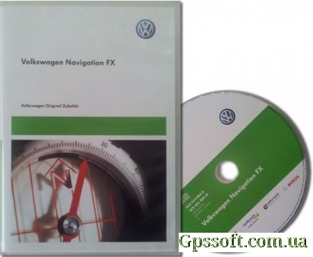 Новая карта России для VolksWagen Seat Skoda Blaupunkt FX 2013 V5 Russia + Major Roads of Europe